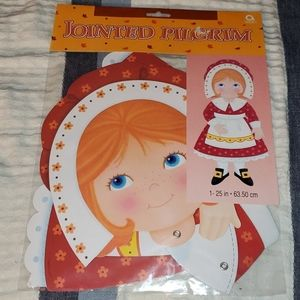 Amscan Jointed Girl Pilgrim Cutout Thanksgiving
